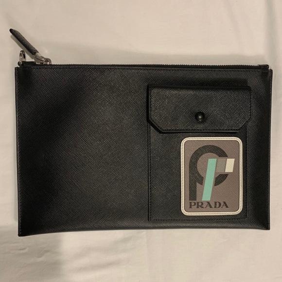 9ff203d1db22 Prada Bags | Saffiano Pouch | Poshmark